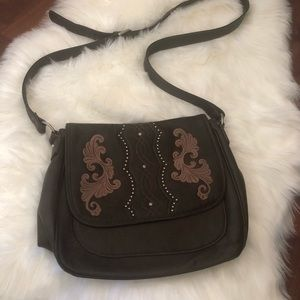 Bandanna by American West leather crossbody purse